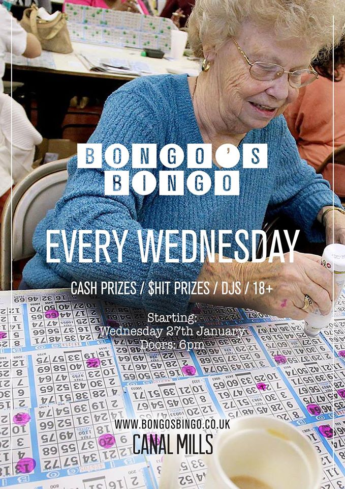 Bongo's Bingo - Leeds Weds 27th January