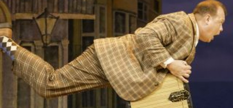 The National Theatre's One Man, Two Guvnors arrives at Leeds Grand Theatre.