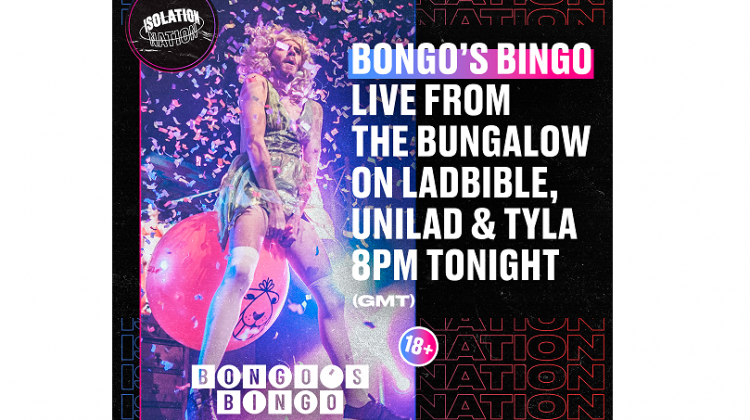 BONGO'S BINGO LIVE FROM THE BUNGALOW TONIGHT!